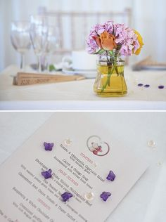 pretty, colourful, modern wedding decor, image by Gail Kelly Photography