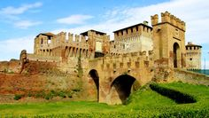 The Sforza Castle in Soncino, Lombardy, Italy. The famous, well-preserved Castle…