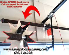 we service garage door broken springs, cables, rollers, damaged tracks, a non-working opener, our technicians are on standby and ready to provide service or free Estimate