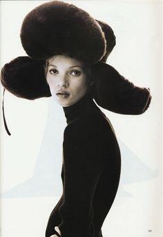 US Harper's Bazaar November 1993 Model: Kate Moss Photographer: Steven Klein…