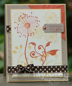 Thankful for You Card by Denise Marzec #Cardmaking, #Thanksgiving
