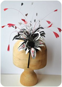 Queen of Hearts Playing Card Fascinator by Soobird on Etsy, £58.00