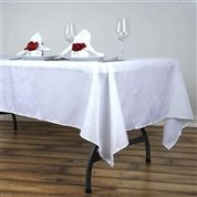 BalsaCircle White Rectangle Polyester Tablecloth Table Cover Linens for Wedding Party Events Kitchen Dining Tablecloths For Sale, Wedding Tablecloths, Wedding Table Linens, Wedding Tables, Checkered Tablecloth, Tablecloth Sizes, Banquet Chair Covers, Table Covers