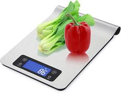 WAOAW Digital Stainless Kitchen food Scale with Countdown Timer Function, Backlit LCD Resolution Measuring Scale, Digital Food Scale, Stainless Kitchen, Digital Kitchen Scales, Countdown Timer, Vacuum Flask, Kitchen Dining, Special Deals, Future House