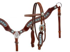 Crystal rhinstone headstall and breast collar set- Crystal rhinstone headstall…