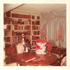 Photograph Snapshot Vintage Color Library Study Christmas Decor 1970'S | eBay