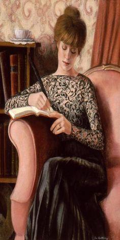Items similar to Victorian Lady Art Portrait Painting black lace fashion Original romantic artwork by Sue Halstenberg on Etsy