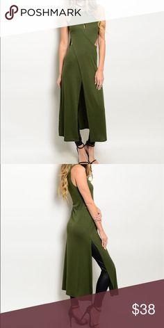 Selling this Olive Ribbed Cutout Dress on Poshmark! My username is: danielledunc. #shopmycloset #poshmark #fashion #shopping #style #forsale #Dresses & Skirts