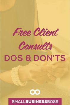 Free consult calls can be powerful when done right. Check out these dos and don'ts to make the most of free consult calls.. *Pin this post for later* via @scoopindustries