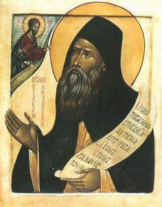 Saint Silouan, the Athonite, Russian Icon Orthodox Icons, Mona Lisa, Artwork, Best Icons, The Monks