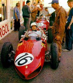 1961 GP Francji (Reims) Ferrari 156 ( #16 Phil Hill & #50 Giancarlo Baghetti)