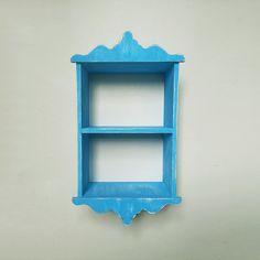 Mavi Mutfak Rafı – Ahşap