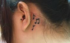 MUSIC NOTES BEHINED EAR