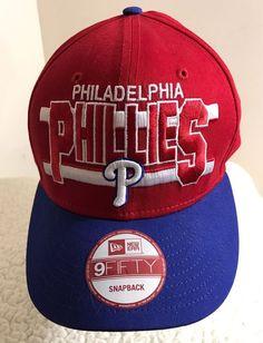 Philadelphia Phillies Baseball Cap Hat New Era 9Fifty Snapback MLB Cap Mens 8c76659bc3bf