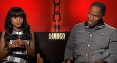 """Kerry Washington and Jamie Foxx Sing """"All Gold Everything""""   Video- http://getmybuzzup.com/wp-content/uploads/2012/12/Kerry-Washington-and-Jamie-Foxx-600x326.jpg- http://gd.is/pYIL5z"""