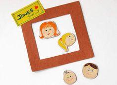 DIY Fridge Family Magnets - so cute!