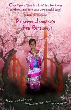 Mulan Princess Birthday  Disney Princess Birthday by loveli67, $25.00