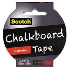 """** Chalkboard Tape, 1.88"""" x 5 yds, Black"""