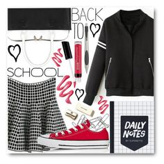"""Back To School"" by stylemoi-offical ❤ liked on Polyvore featuring Bare Escentuals, Home Decorators Collection, Converse, Kate Spade and Alessi"