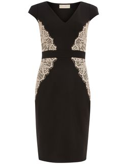 Black and blush lace overlay dress   #DorothyPerkins