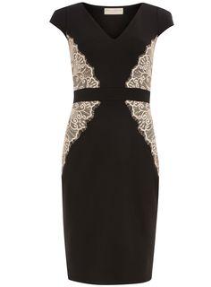 Black and blush lace overlay dress   #DorothyPerkins