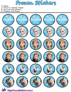 Disney's Frozen hit theaters with a big BANG. It was the most popular Disney movie to date. I have to admit that I love it. In honor of one of my favorite movies I created Frozen printables t… Frozen Birthday Party, Disney Frozen Party, Disney Congelati, Disney Birthday, Disney Family, Tags Frozen, Frozen Free, Frozen Cupcake Toppers, Frozen Cupcakes