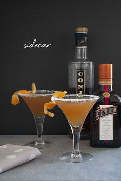 a roundup of classic cocktail recipes and glassware on coco+kelley | the sidecar