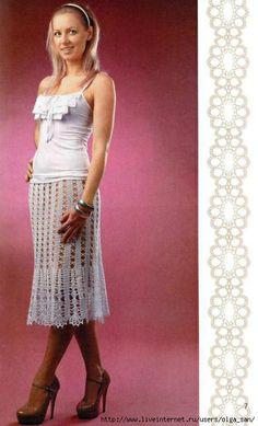 Crochet skirt ♥LCS-MRS♥ with diagram