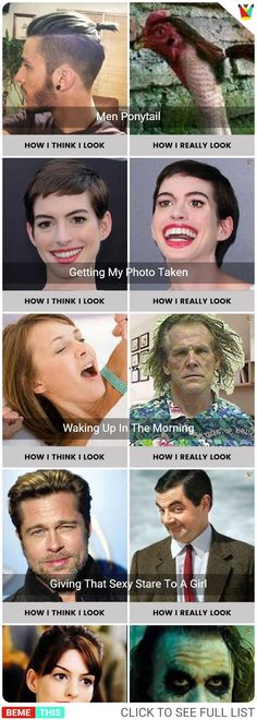 How I Think I Look VS How I Really Look #expectationsvsreality #howithinkilook #howiactuallylook #humor #bestfunnypics #funnypictures #photos #funnypics #humour #bemethis