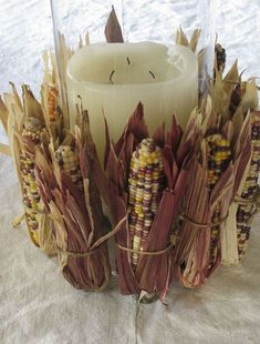 Indian Corn Centerpiece--includes instructions on how to make