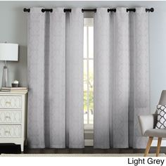 Artistic Lawrence Grommet Textured Jacquard Curtain Panel Pair