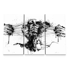 Drawing Restraints Canvas Set by Agnes Cecile $299.99 http://www.eyesonwalls.com/products/drawing-restraints-canvas-set