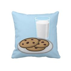 Milk and Cookies 2 Sided Pillow