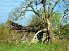 Abandoned house in the Chernobyl exclusion zone.