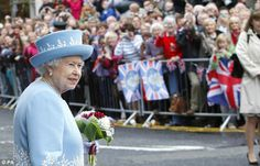 The Queen draws a crowd as she arrives in Enniskillen this morning on her Diamond Jubilee tour