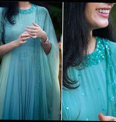 Long Dress Design, Dress Neck Designs, Fancy Blouse Designs, Designs For Dresses, Salwar Designs, Kurta Designs Women, Kurti Designs Party Wear, Indian Gowns Dresses, Indian Fashion Dresses