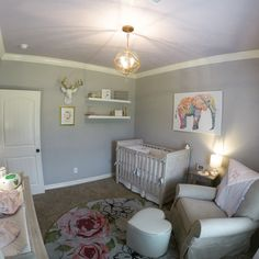 Girl Nursery - Pottery Barn - Restoration Hardware - Ballard Design