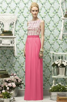 Lela Rose Bridesmaid Dress...love rhe background not the dress!