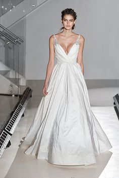 Take The Plunge With These Beautiful V Neck Dresses Jim Hjelm Wedding