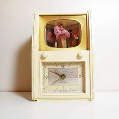 Vintage - Ballerina Music Box Alarm Clock - Florn - Germany