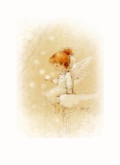 Perhaps children's innocence, wherever it comes from,  contributes to the fact that they seem to see angels more often. ^i^