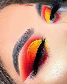 Dramatic Eye Makeup, Makeup Eye Looks, Beautiful Eye Makeup, Eye Makeup Art, Crazy Makeup, Skin Makeup, Dramatic Eyes, Makeup Eyebrows, Subtle Makeup