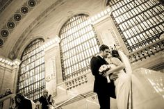 Nyc wedding pictures at grand central station.