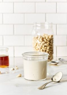 Vanilla Cashew Cream - This raw vegan vanilla cashew cream is creamy, delicious, and is awesome served with dairy-free desserts.