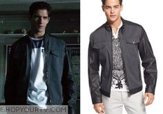 Scott McCall (Tyler Posey) wears this grey denim jacket with faux-leather trim in this week's episode of Teen Wolf. It is theINC [...]