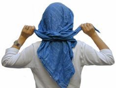 """How to tie a """"Jerusalem Crown"""" from your headscarf."""