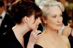 Meryl Streep and Anne Hathaway in The Devil Wears Prada #movie #actress
