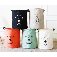 New Large Laundry Hamper Bag Cartoon lovely Clothes Storage Baskets Home clothes barrel Bags kids toy storage laundry basket Price: USD Kids Clothes Storage, Sock Storage, Toy Storage Boxes, Clothing Storage, Storage Baskets, Bag Storage, Laundry Clothing, Linen Storage, Large Laundry Hamper