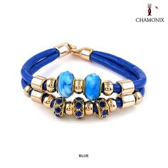 Chamonix 18kt Rose Gold-Plated Stainless Steel Murano Glass 2-Strand Bracelet - Assorted Colors at 90% Savings off Retail!