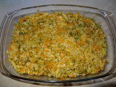 Zapiekanka warzywna z serem, ryżem, brokułami i fasolką szparagową